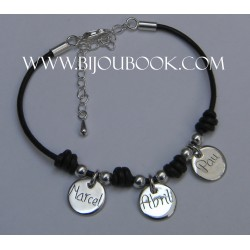 Pulsera con medallas 12mm